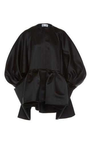 Medium dice kayek black oversized sleeve top