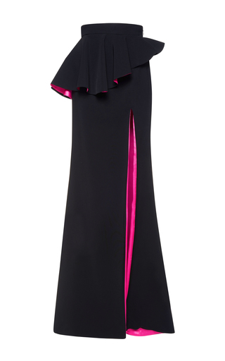 Medium zuhair murad black high waisted cady skirt