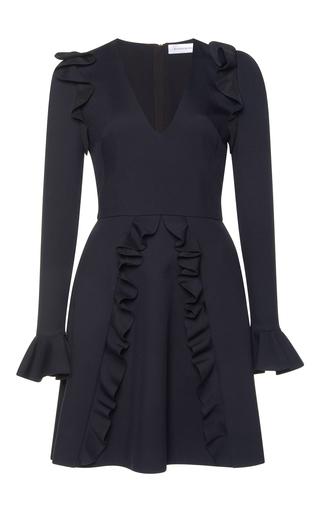 Medium zuhair murad black cady ruffled mini dress