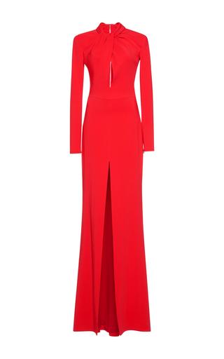 Medium zuhair murad red cady slit gown