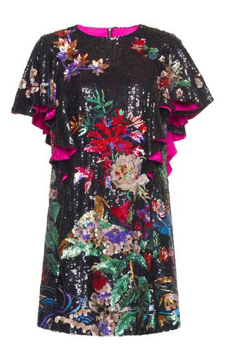 Medium zuhair murad black sequin t shirt dress