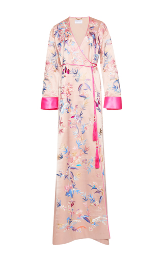 Medium zuhair murad multi embroidered maxi kimono jacket