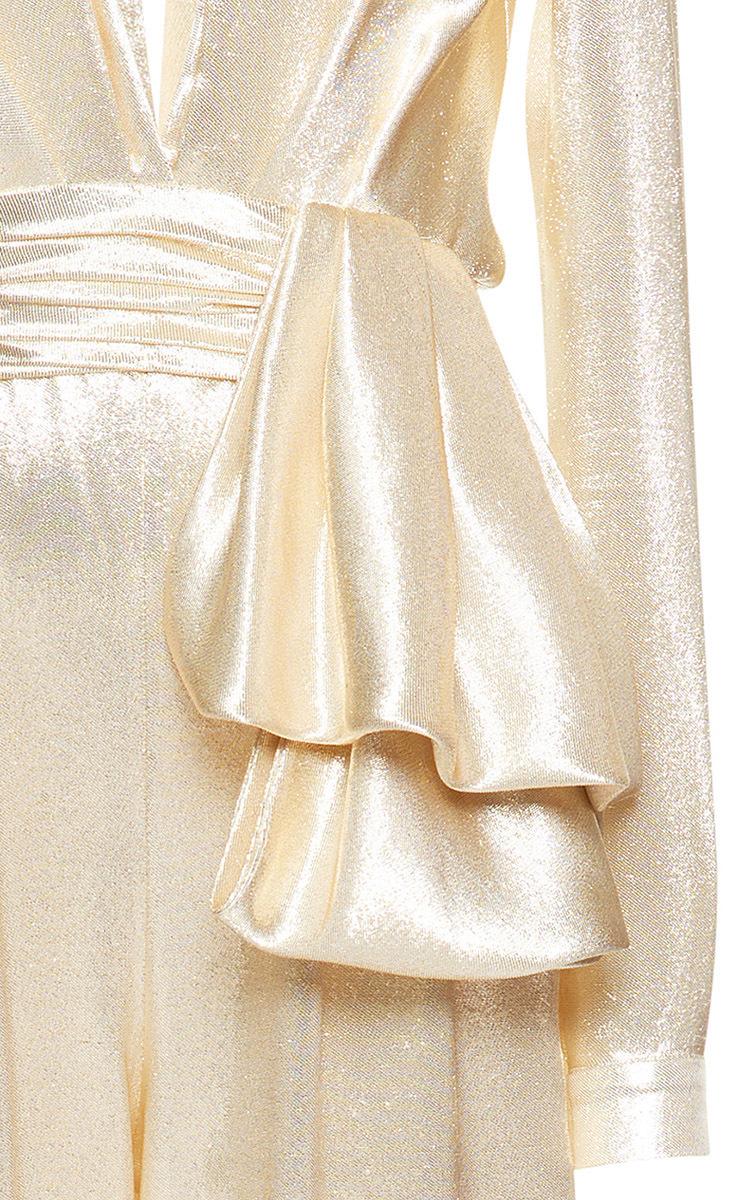 7db1ddb1565 Zuhair MuradHigh Waisted Lamé Jumpsuit. CLOSE. Loading. Loading. Loading