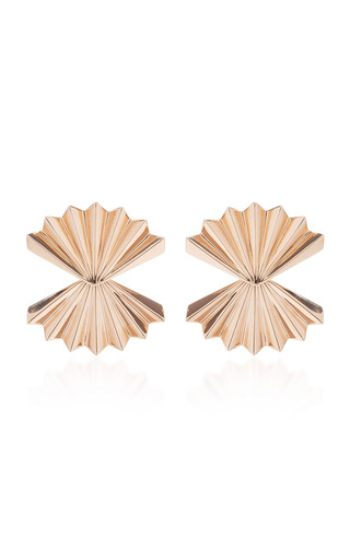Medium anita ko pink fan earrings