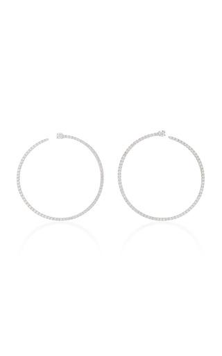 Medium anita ko silver pave bardot hoops