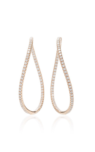 Medium anita ko pink pave twist hoops