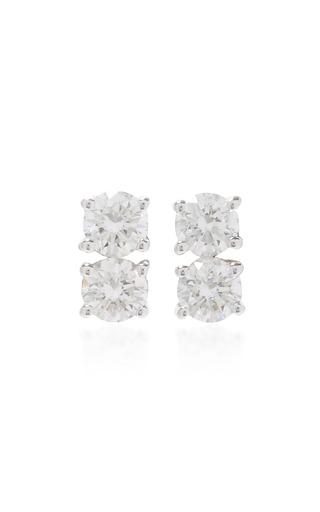 Medium anita ko silver two dots earrings
