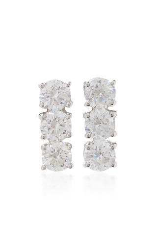 Medium anita ko silver three dots earrings