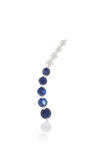 Medium anita ko blue right blue sapphire diamond floating earring