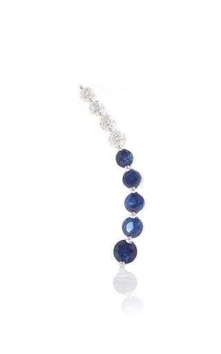 Medium anita ko blue left blue sapphire diamond floating earring
