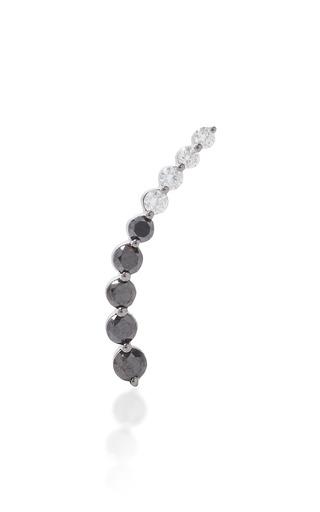 Medium anita ko black right black diamond white diamond floating earring