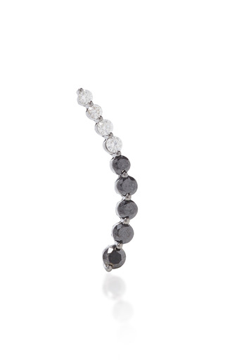 Medium anita ko black left black diamond white diamond floating earring