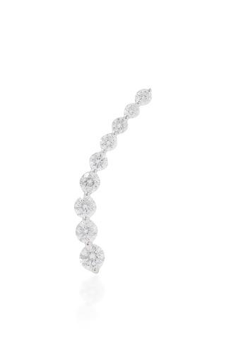 Medium anita ko silver right diamond floating earring