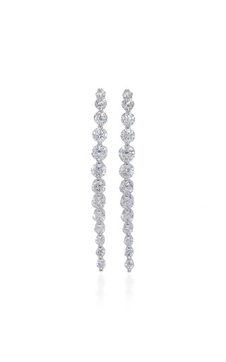 Medium anita ko silver long cascade earring