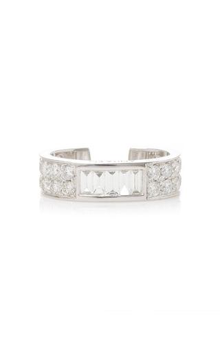 Medium anita ko silver baguette round diamond ear cuff