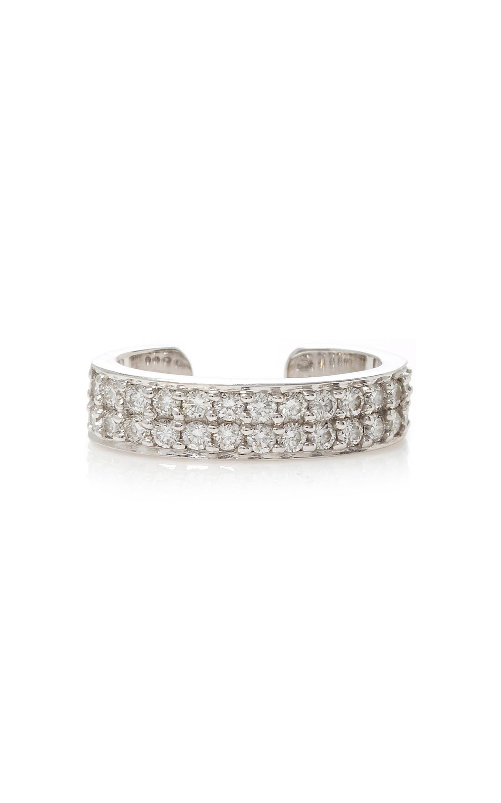 6c4813e11 Double Row Diamond Ear Cuff in White Gold by Anita Ko | Moda Operandi