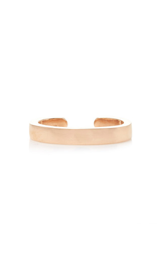 Medium anita ko pink single row plain ear cuff in rose gold