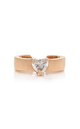 Medium anita ko pink heart diamond ear cuff
