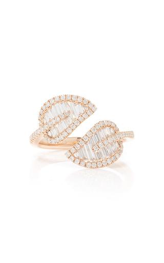 Medium anita ko pink small leaf ring