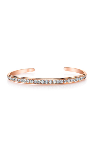 Medium anita ko pink round diamond single spine cuff