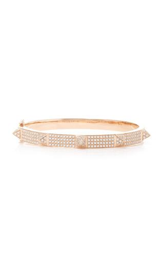 Medium anita ko pink all diamond oval spike bracelet