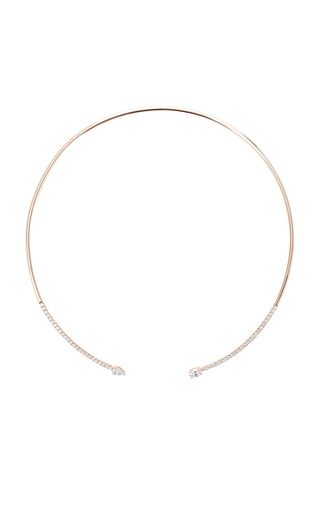 Medium anita ko rose gold pave split choker