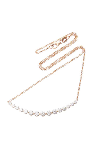 Medium anita ko pink crescent necklace