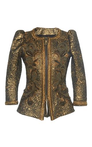 Medium andrew gn gold beaded jacket