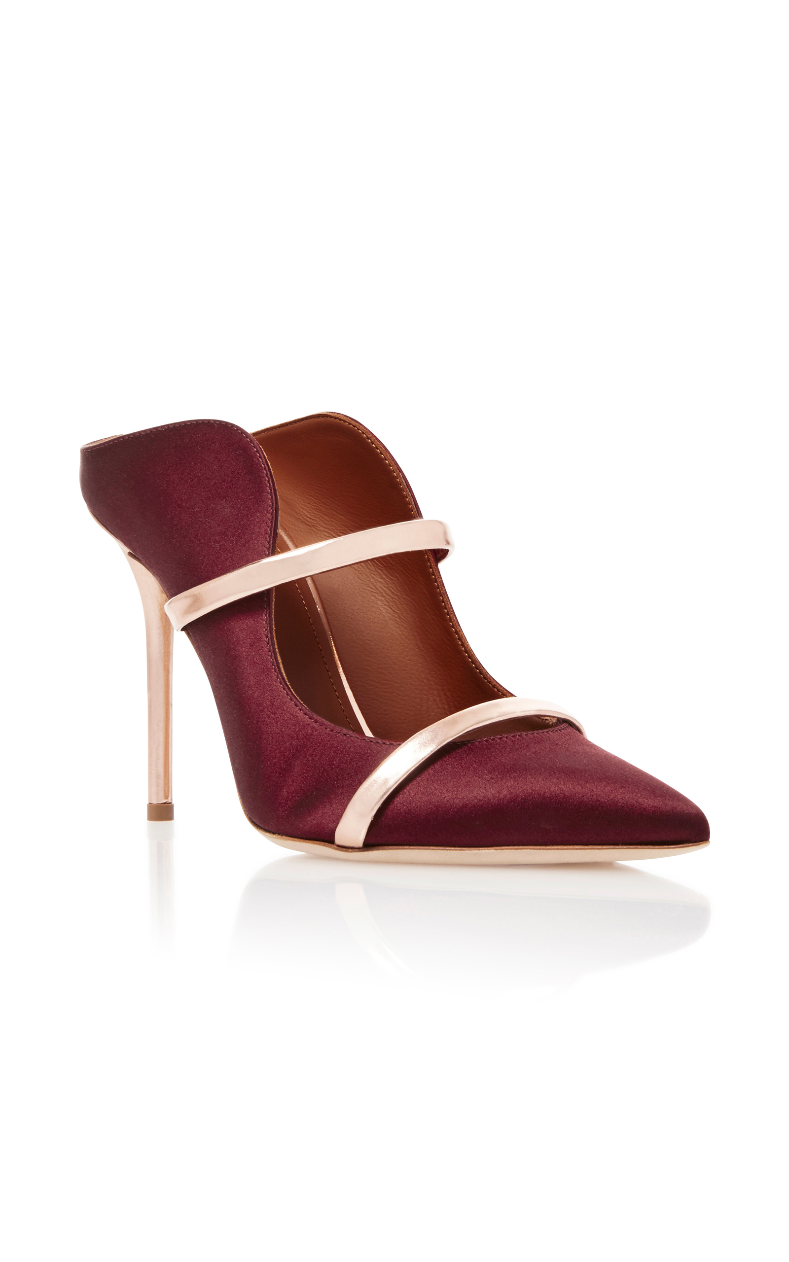 Maureen satin mules Malone Souliers z2IOS2