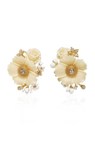 Medium anabela chan gold bumble blossom earrings
