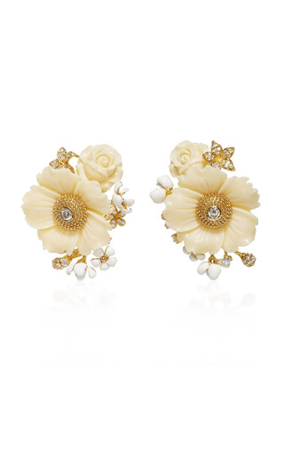Medium anabela chan gold bumble blossom earrings