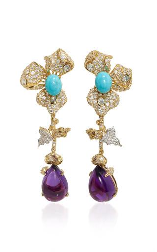Medium anabela chan purple orchid amethyst earrings