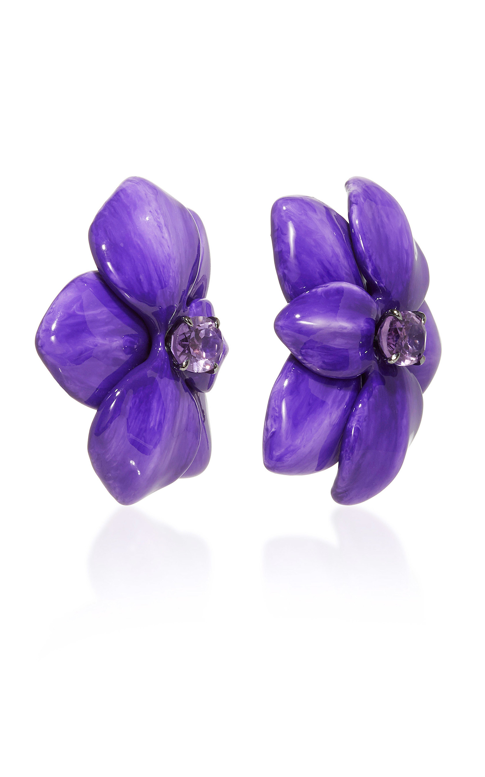 sale red flower shourouk vand and mian purple earrings product
