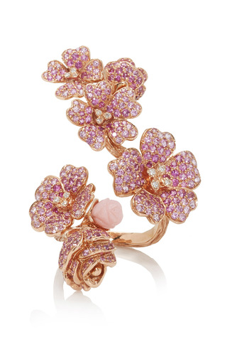 Medium morphee joaillerie pink cherry blossoms ring