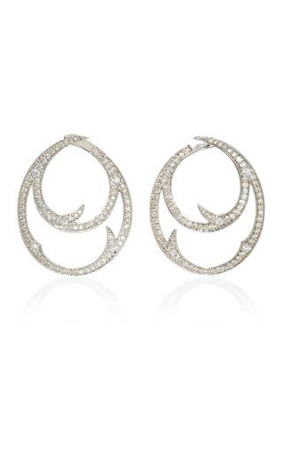 Medium stephen webster silver thorn double hoop earrings