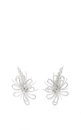Medium yeprem silver fireworks earrings