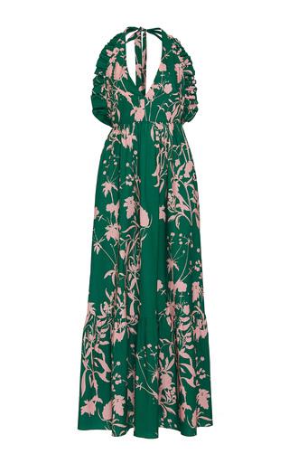 Medium borgo de nor green violeta floral print cotton gown