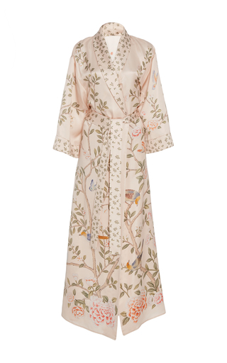 Medium moda operandi x de gournay pink printed silk robe