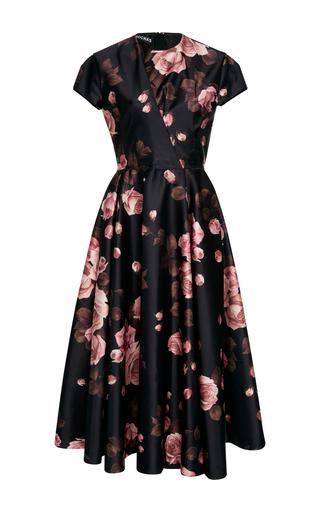 Medium rochas floral floral print satin dress