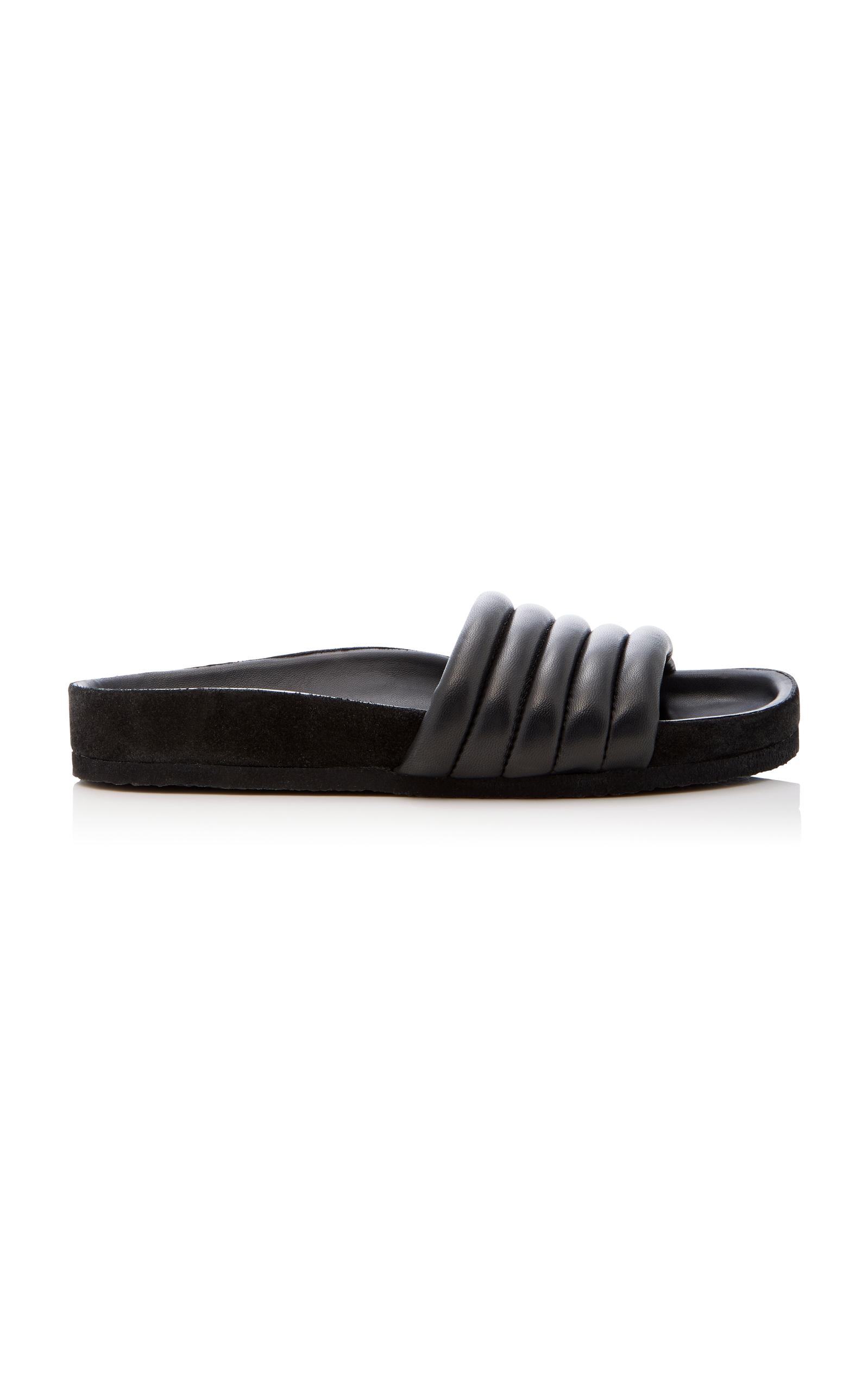 Hellea Metallic Quilted Leather SlidesIsabel Marant 6hmUli