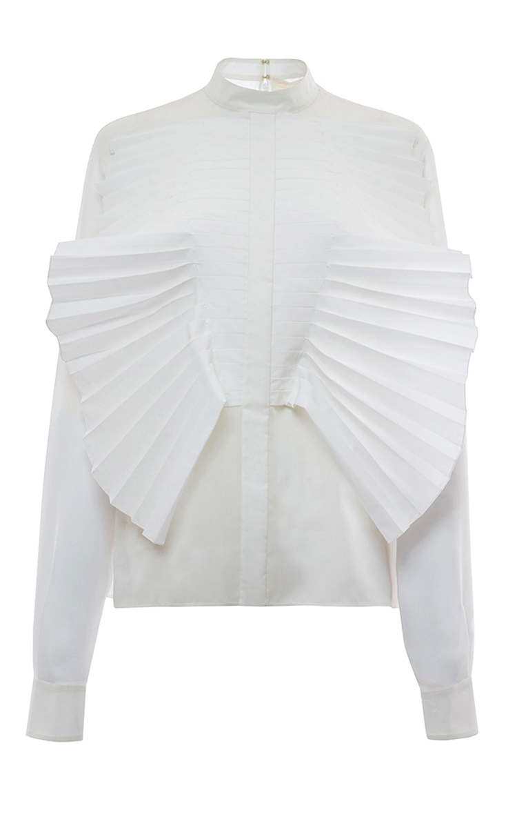 Outlet Enjoy Official Site Cheap Price ruffled sleeve blouse - White Genny 2018 New Cheap Price Sale Deals From China pzDmGz7P