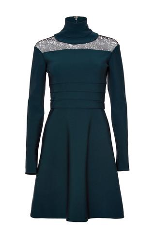 Medium genny green long sleeve mini dress