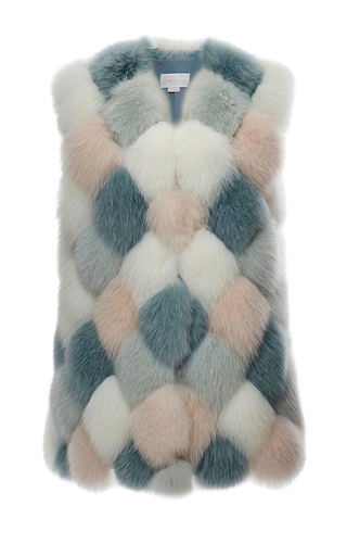 Medium genny multi fox fur vest