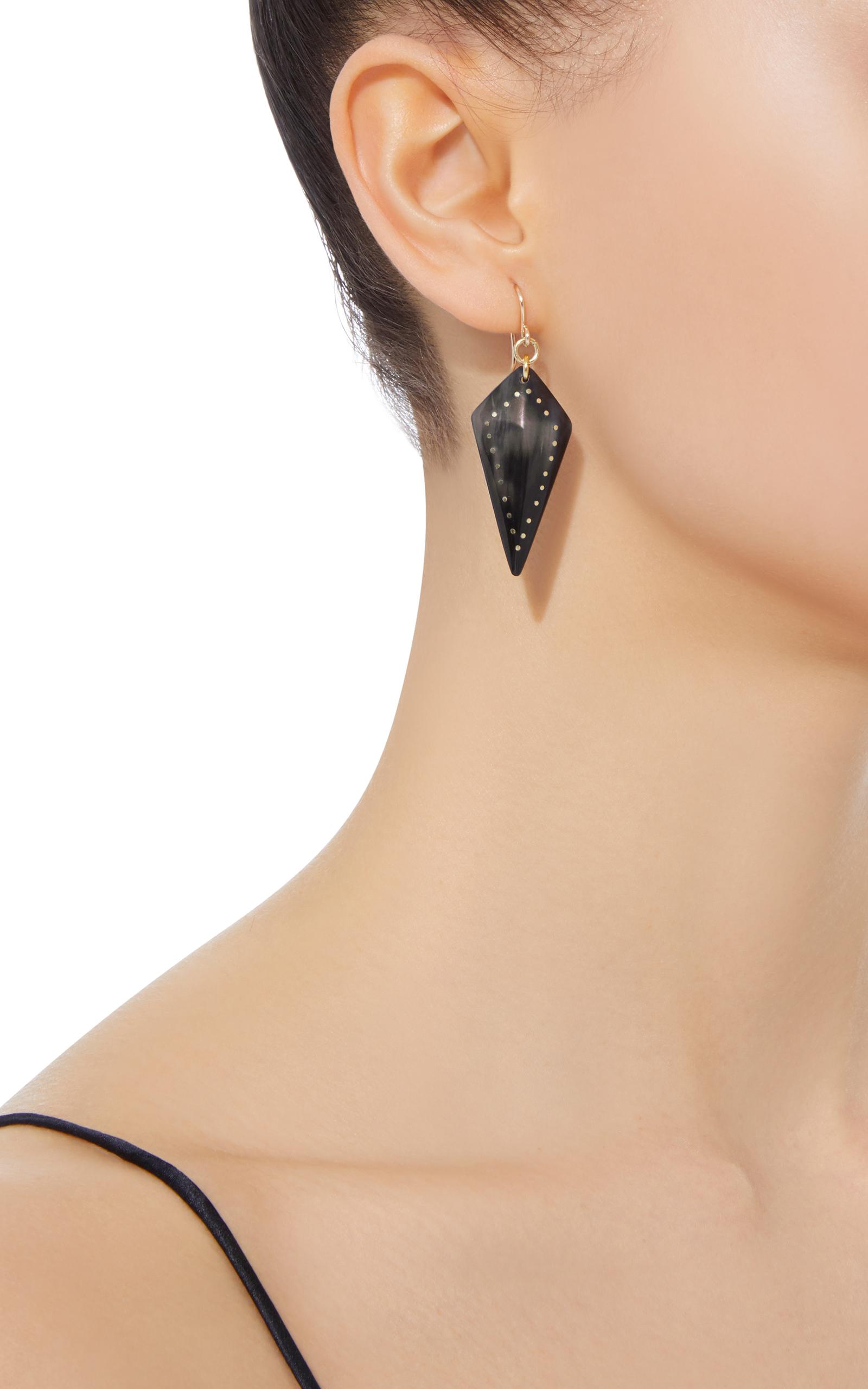 Ashley Pittman Radi Horn and Bronze Earrings vC78q3