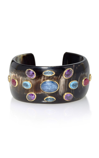 Medium ashley pittman multi ovu horn multi stone cuff