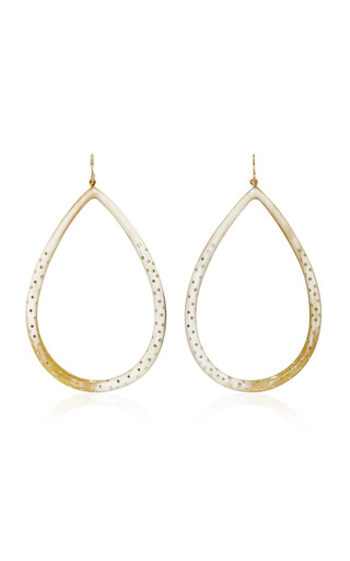 Medium ashley pittman gold kambi horn and bronze earrings