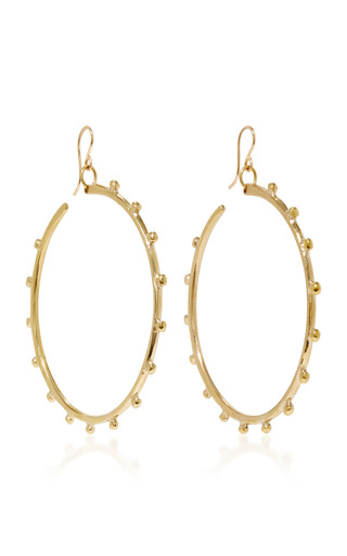 Medium ashley pittman gold teli bronze earrings