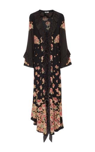 Medium vilshenko print aventina silk crepe de chine maxi dress