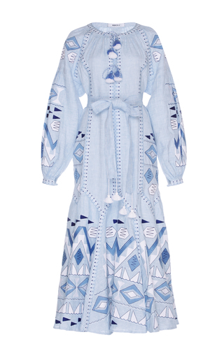 Medium march11 blue sky blue kilim embroidered maxi dress