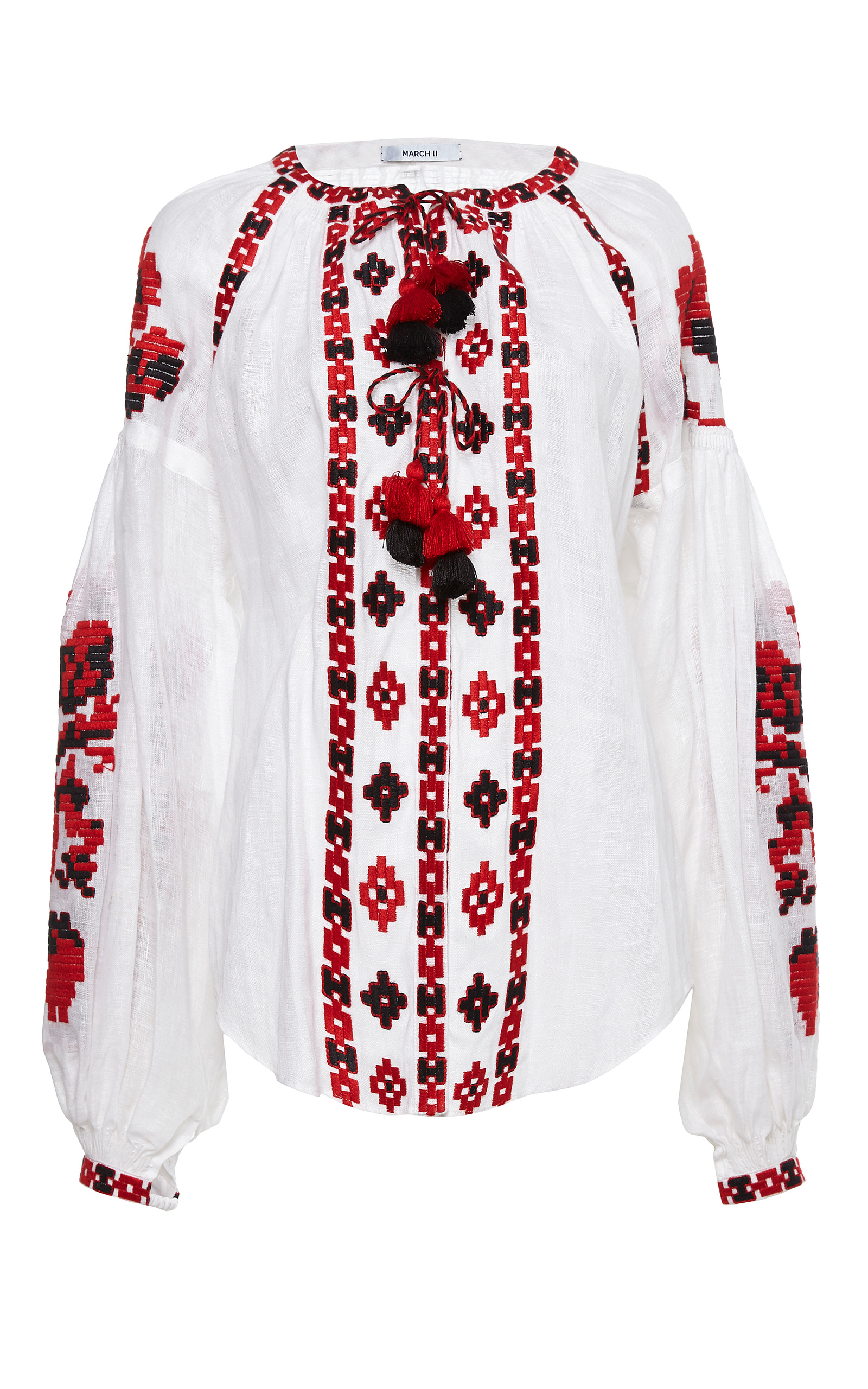 White flower pixel embroidered blouse by march11 moda operandi mightylinksfo